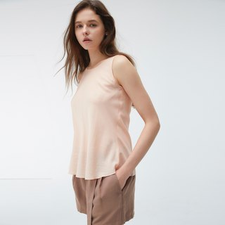 Copper ammonia silk sleeveless top