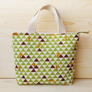 Triangular giraffe zipper bag
