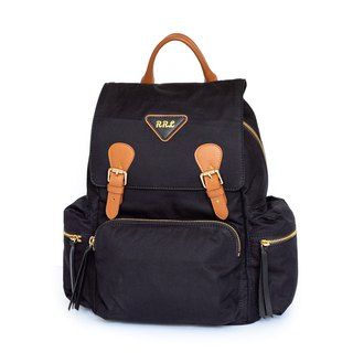 Patina Leather Handmade Trench Tarpaulin Backpack