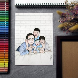 DUNMI meters / A5 hand-painted Q illustration - dear family (without box)