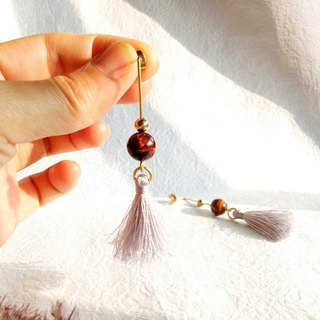 <Swing> Tassel Brass Earrings Ear Ears/Ear clips