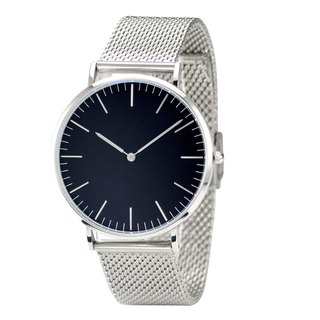 Classic Minimalist Watch with Mesh Band Black Face- Free shipping worldwide
