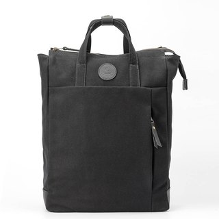 Multi-Functional Water-resistant Handmade Canvas Backpack Black