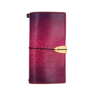 TN notebook starry hand-painted / hand-dyed / double needle hand sewing / customized / Italian vegetable tanned leather