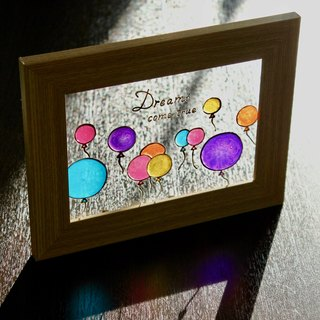 Dreams Come True│Colourful Balloons Glass Painting・Personalized Art Gift