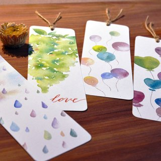 Hand-painted watercolor bookmarks four - special 100 yuan!