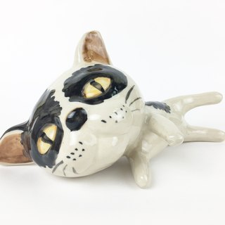 Nice Little Clay three-dimensional hand-decorated _ lazy cat 2
