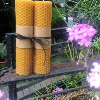 Lavender beeswax candles (floral notes) home fragrance series gift sketch