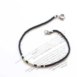 "Minimalty will be the wind silver black Bohemian wind fine bracelet ""small chain club"" BMK011"