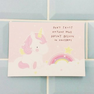 Netherlands a Little Lovely Company - healing cute postcards - believe in unicorn