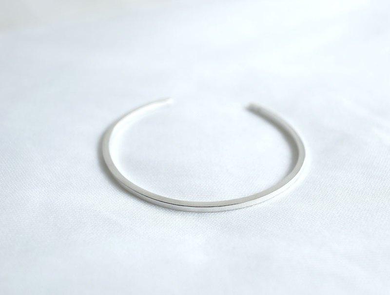 ni.kou純銀方形手環-細版