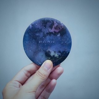 Etcetera - Starry night  (Watercolor illustration) Mini Round Mirror