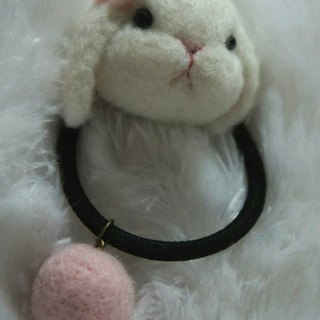 Wool felt bunny wave wave hair ring custom (black hair ring is not available)