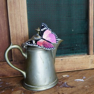 Xu Fu to Fleisch - Wudie flying butterfly embroidery iron absorption - monarch butterflies (pink)