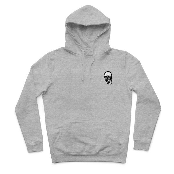 Infection - Deep Heather Gray - Hooded T-shirt