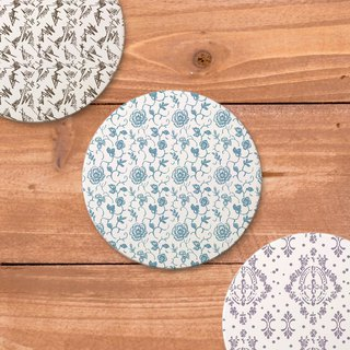 Vintage pattern series water absorbing ceramic three-dimensional coaster