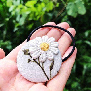 Hand made fabric fabric series hair circle - the daisy daisy