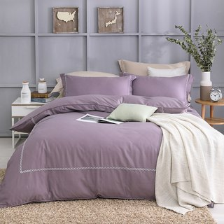 (increase) return true - fascinating purple - high quality 60 cotton dual-use bed pack four-piece group [6 * 6.2 feet Queen]