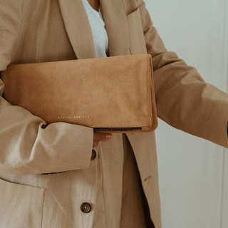 FEEL THE NIGHT Clutch_Tan / Camel