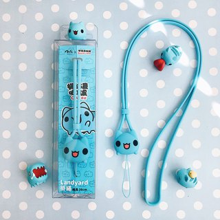 [Cat cat worm wave] - mobile phone lanyard / hanging neck / mobile phone rope / authorized / gift
