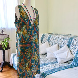 Dress V Neck Sleeveless Indonesian Fabric