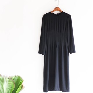 River water - Nagano elegant fold line Slim youth girl antique dress silk dress overalls oversize vintage dress