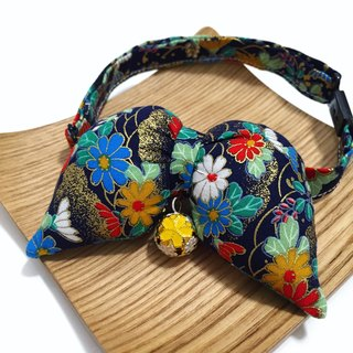 Floral butterfly-shaped wind collar collar s size dogs and cats