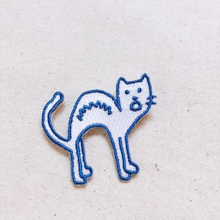 Disgusting cat series fried cat embroidery badge