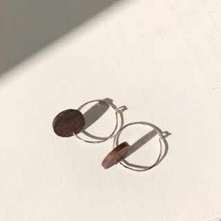 │Wood │Draped wood texture without earrings Earrings - Sterling Silver