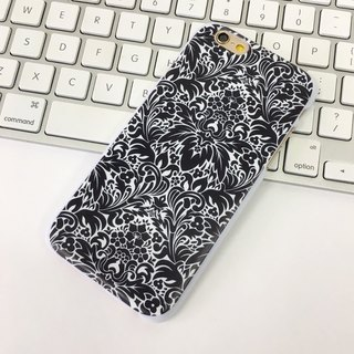 Floral Black 3 Pattern Print Soft / Hard Case for iPhone X,  iPhone 8,  iPhone 8 Plus, iPhone 7 case, iPhone 7 Plus case, iPhone 6/6S, iPhone 6/6S Plus, Samsung Galaxy Note 7 case, Note 5 case, S7 Edge case, S7 case