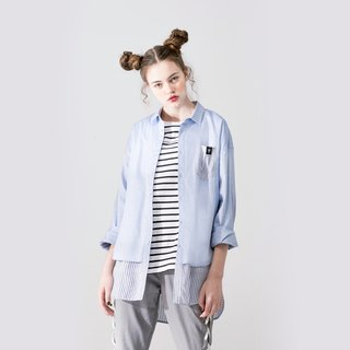 UNISEX DUAL-LAYERED APPEARANCE SHIRT