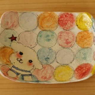 * Order Production Powder Drop Colorful Drop and Toy Poodle Square Cake Dish.