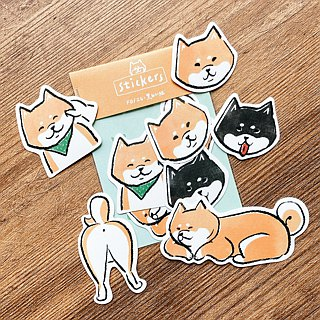 My family's Shiba Inu will only laugh / sticker