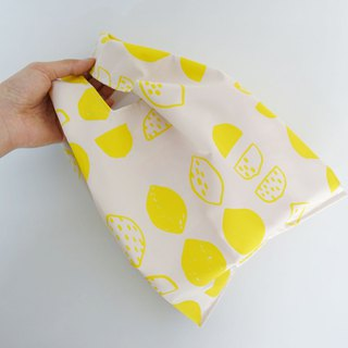 Eco-friendly small shopping bag drink food bag lemon