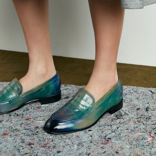 H THREE PENNY Love shoes / flat / blue parrot