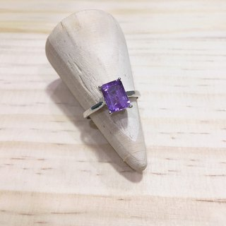 Amethyst Ring Simple design made in India