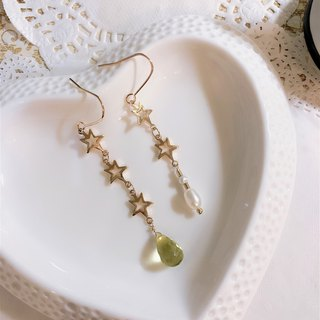 Aura with lemon crystal earrings