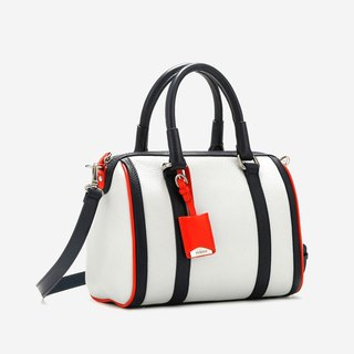[Germany kobold] elegant Adela dual-use striped Boston bag
