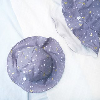 Lightweight wide-brimmed dome dome cap | Star Moon