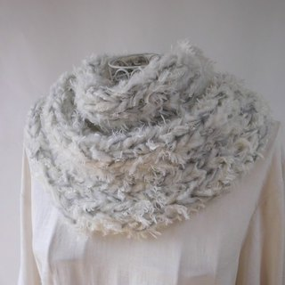 Fluffy snood (winter story) _ Far · merino wool · Kidmoheya · baby alpaca