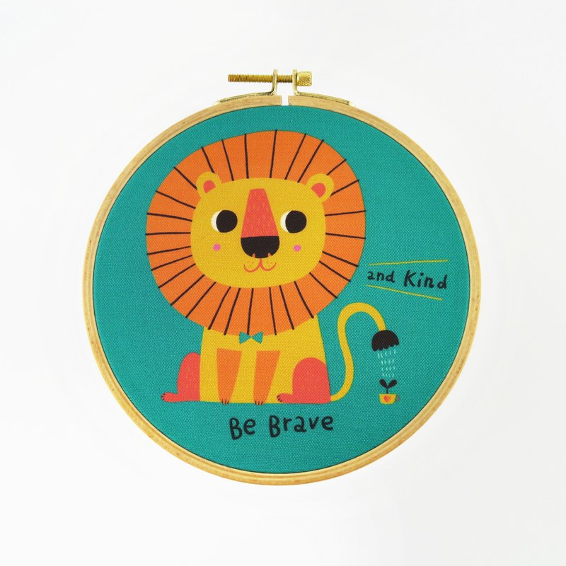 Be Brave And Kind The Little Lion Hoop Art