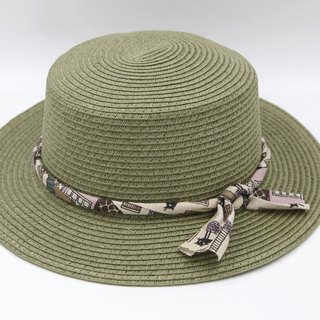 [Paper cloth home] small hat (military green) paper line weaving