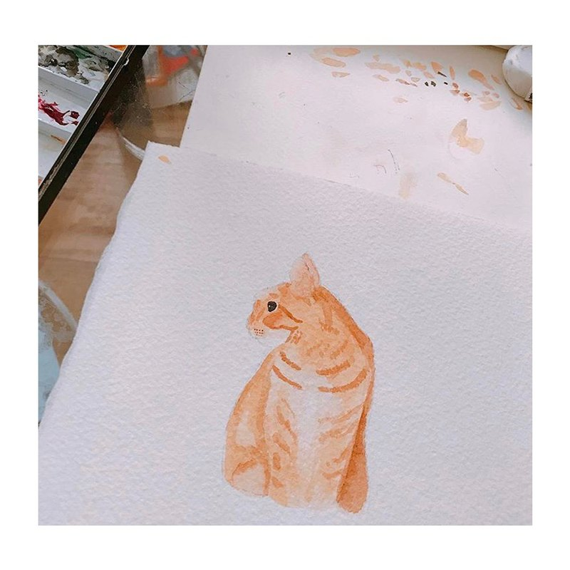 [Draw for you | like painting] Custom pet hand painting style A6 size