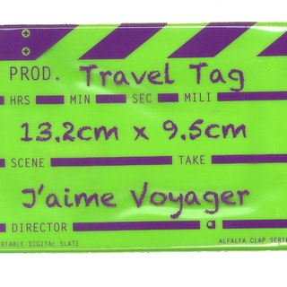 Director clap Travel tag - Green