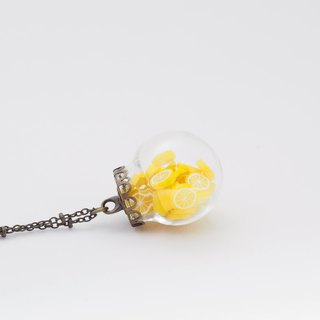 「OMYWAY」Lemo Necklace - Glass Globe Necklace
