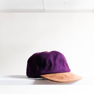 River Hill - violet leather love antique six youth logs cut dome Benn baseball cap peaked cap / baseball cap