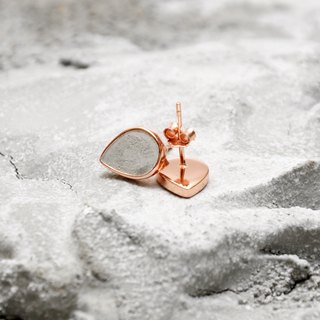 Grey Concrete Drop Earrings (Silver/Rose Gold) | Geometric Series