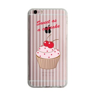 Custom double cherry cupcakes transparent Samsung S5 S6 S7 note4 note5 iPhone 5 5s 6 6s 6 plus 7 7 plus ASUS HTC m9 Sony LG g4 g5 v10 phone shell mobile phone sets phone shell phonecase