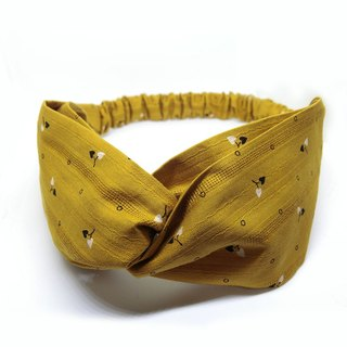 [shell art products] mustard yellow Japanese cotton headband