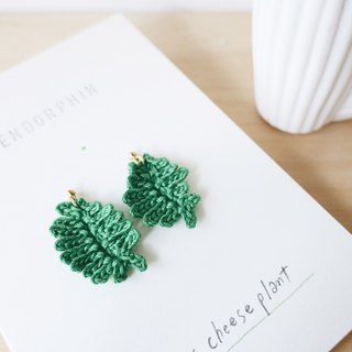 [Endorphin] embroidery plant earrings